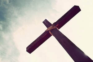 The cross, where Jesus died for our sin.